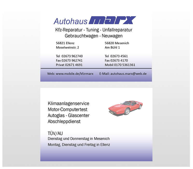 Autohaus Marx Moseldesign